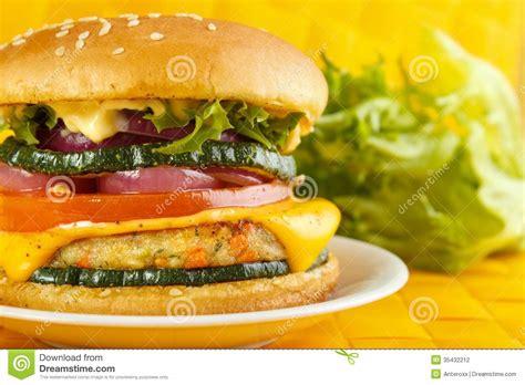 vegetarian burger stock photography image