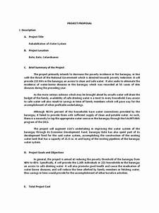 sample of a project proposal water system project With document management system project proposal