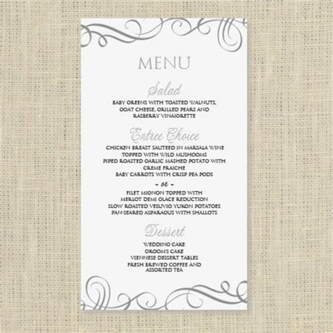 menu card template wedding menu card template instantly edit