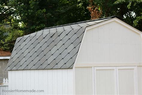 shed roofing shingles she shed the roof part 4 of the backyard makeover
