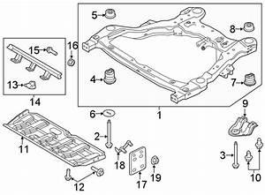 2016 Ford Explorer Suspension Subframe Crossmember  Front