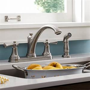 American, Standard, Portsmouth, 2-handle, Kitchen, Faucet, With, Side, Spray