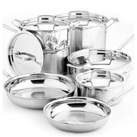 cuisinart  piece multiclad pro cookware set   shipped