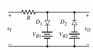 double diode positive and negative clipping circuit With clipper circuit