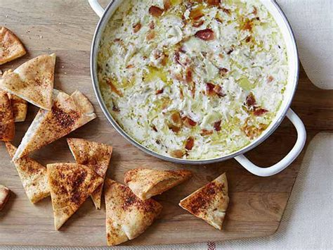 warm dips warm artichoke and bacon dip recipe giada de laurentiis food network