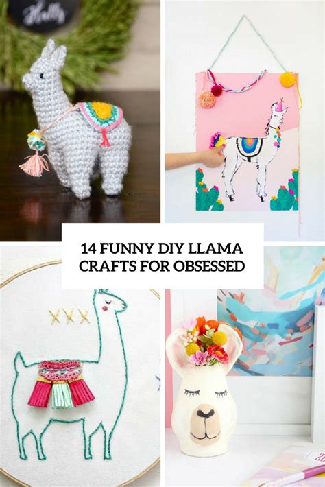 14 Funny Diy Llama Crafts For Obsessed  Shelterness