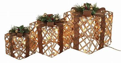 Gift Decorations Boxes Lighted Indoor Decoration Holiday