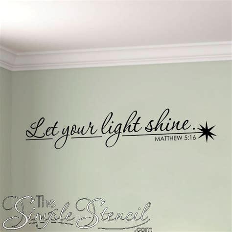 let your light shine vinyl wall window bible verse