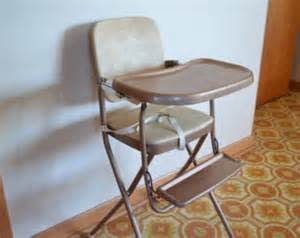 vintage cosco folding high chair metal chair by