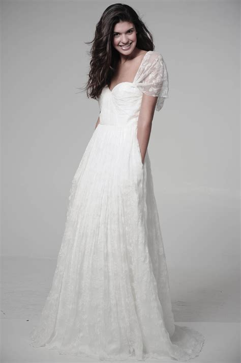 flowy dresses  sleeves wedding dress inspiration