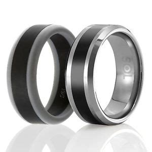 designed silicone rubber wedding ring tungsten wedding band of 2 ebay