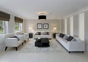 Wohnzimmer Mit Brauner Couch : sofa wei 35 wohnzimmereinrichtungen mit einem wei en akzent ~ Markanthonyermac.com Haus und Dekorationen