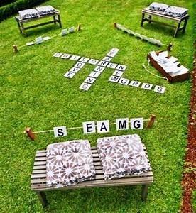50 outdoor games to diy this summer brit co With giant yard letters