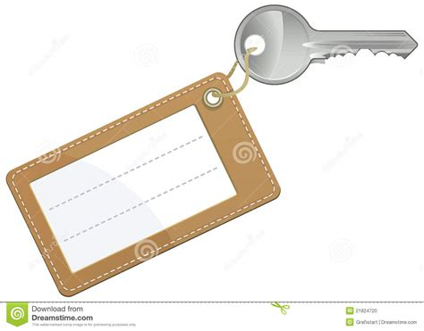 Key With Blank Text Label Stock Photo