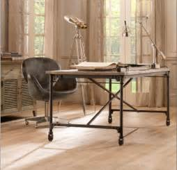French Cross Back Chairs by Rustic Desk For Your Office
