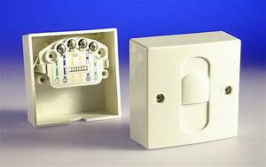Telephone Extension Socket Surface Compact   4 Wire