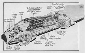 Diagram Of Sir Malcolm Campbell U0026 39 S 1933 Bluebird