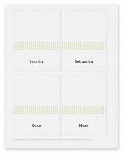 7 best images of printable place card template wedding With place card printing template