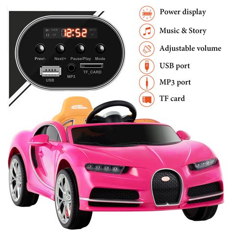 This licensed bugatti kid ride on car is committed to building a better childhood for children and allowing them to grow up in joy and laughter. Bugatti Chiron Kids Ride On Car Electric Children Toy Cars Remote Battery 12V   eBay