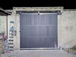 porte de garage sur mesure porte de garage acier et alu With motorisation porte garage coulissante