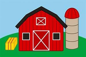 Cute Farm With Barn and Silo - Free Clip Art