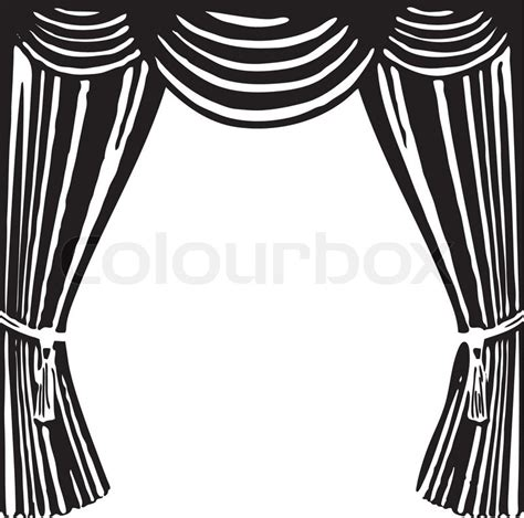 stage clipart black and white theater vorhang vektorgrafik colourbox
