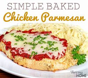 Simple Baked Chicken Parmesan Recipe {Freezer Meal ...