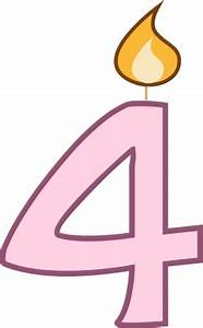 Single Birthday Candle Clipart
