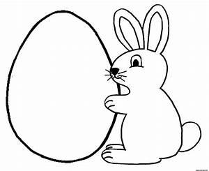 Oeuf Paques Dessin : coloriage lapin oeuf paques ~ Melissatoandfro.com Idées de Décoration