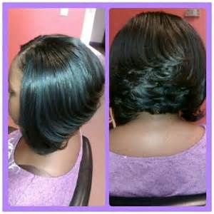 Black Women Feathered Bob Hairstyles