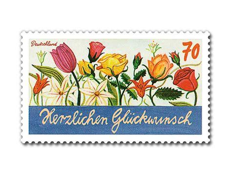 70 cent briefmarke markenset quot gl 252 ckwunsch quot briefmarke zu 0 70 10er set shop deutsche post