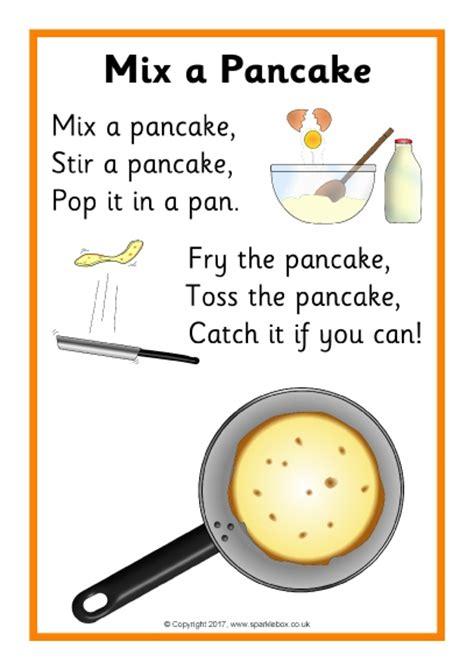 mix  pancake rhyme sheet sb sparklebox