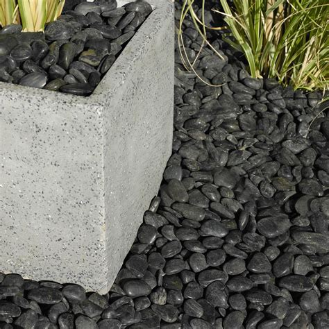 polished black chinese pebbles kg departments diy  bq