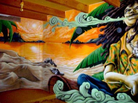 chambre rasta ogans peinture décoration graff graffiti