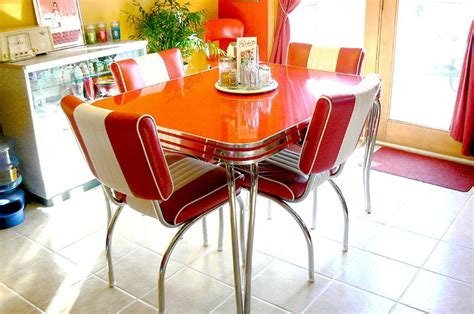 1950s retro kitchen table chairs interior exterior