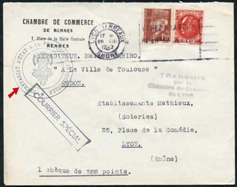 chambre de commerce de rennes histoire postale du courrier interzones 1940 1944