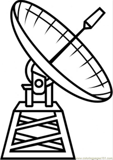 satellite coloring page  astronomy coloring pages coloringpagescom