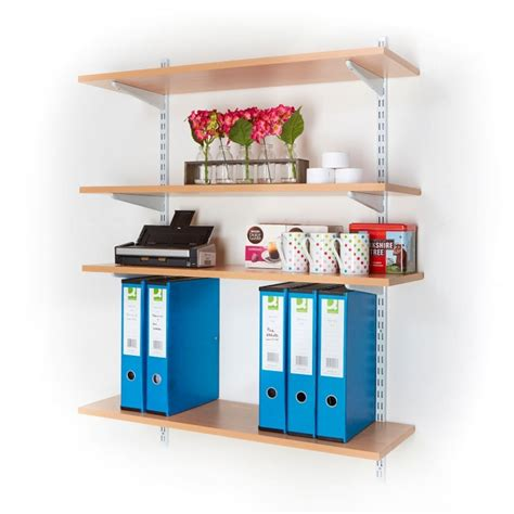 office wall mounted shelving kits  white mm wide