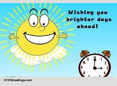 Brighter Days! Free Daylight Saving Time Begins eCards