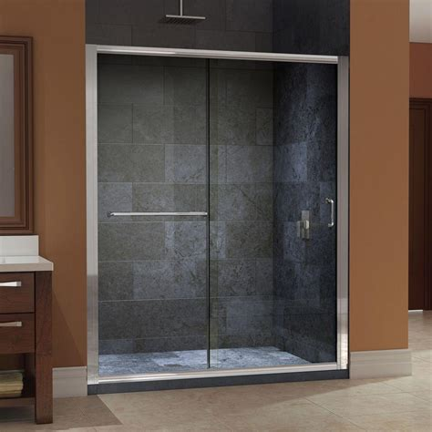 60 shower door dreamline infinity z 56 to 60 in x 72 in framed sliding