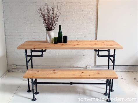 iron  wood table diy galvanized pipe table legs diy
