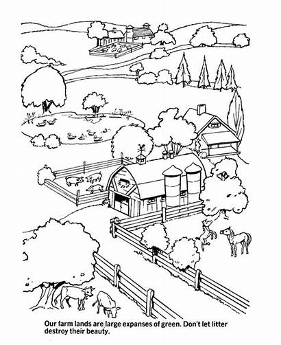 Coloring Pages Earth Environment Land Grasslands Sheets