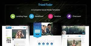 15 social media website themes free premium templates With social networking sites free templates download