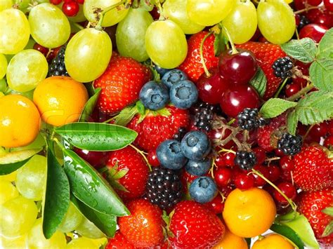 colorful fruit fresh colorful fruits and berries stock photo colourbox