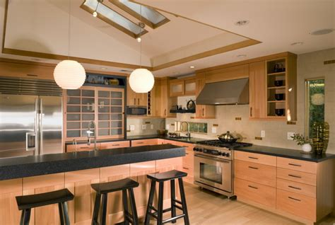asian style kitchen cabinets beautiful japanese kitchen design ideas for modern home 4193