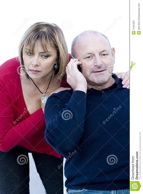Wife Talks Husband Phone