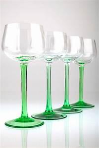 Weinglas Ohne Stiel : 4 vintage weingl ser gr ner stiel stengel gewellte kuppa weinglas gr n ebay ~ Whattoseeinmadrid.com Haus und Dekorationen