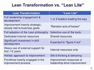 "Lean Transformation vs. ""Lean Lite"""