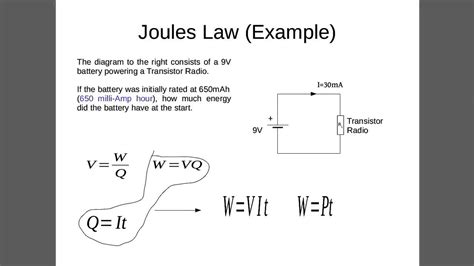 Joule's Law Example 4 (energy In A Battery)