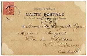 13 Vintage Postcard Font Images - Vintage Postcard Back ...